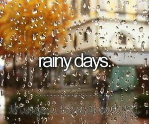 rain, rainy, and autumn image