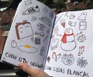 draw, wreck this journal, and white image