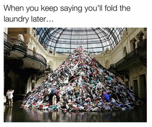 funny, laundry, and lol image