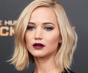 blonde, dark makeup, and goth image