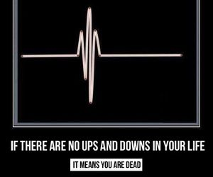 life, quote, and down image