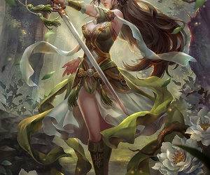 girl warrior image