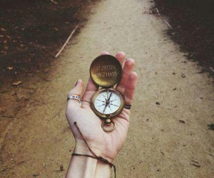 compass, vintage, and grunge image