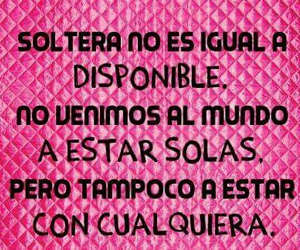 frases, soltera, and sola image