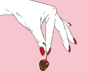 candy, cherry, and chocolate image