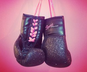 pink, sport, and boxing image