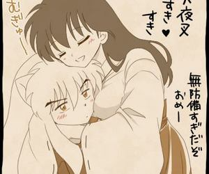 anime, inuyasha, and love image