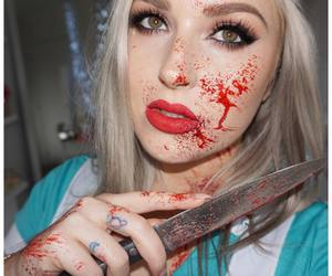 Halloween, nurse, and halloween makeup image