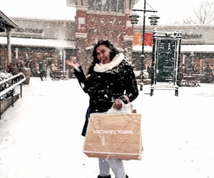 happy, Michael Kors, and snow image