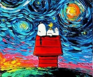 snoopy and art image