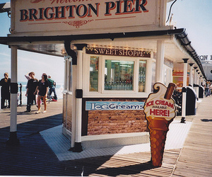 ice cream, photography, and brighton image