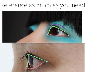 drawing, reference, and eyes image