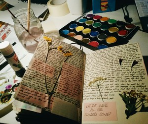 art, journal, and writing image