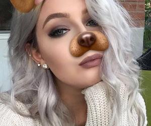 color, girl, and makeup image