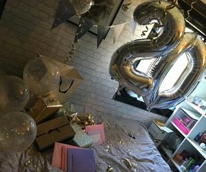 birthday, make up, and present image