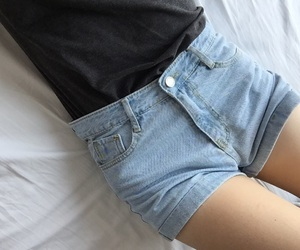 blue, girl, and denim image