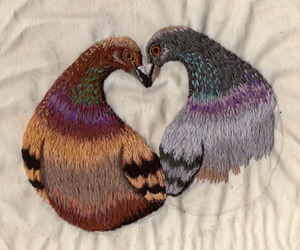 stitches and love birds image