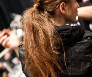hair, model, and ponytail image