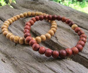 beaded, ethnic, and stretch bracelet image
