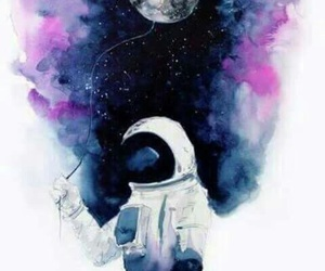 moon, space, and art image
