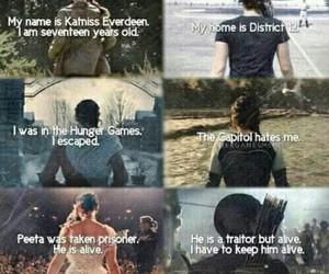 katniss, the hunger games, and mockingjay image