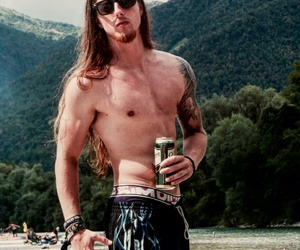 cool, guys with long hair, and metalhead image