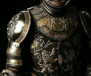 armor, dark side, and gold image