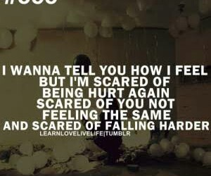 quote, falling, and sad image