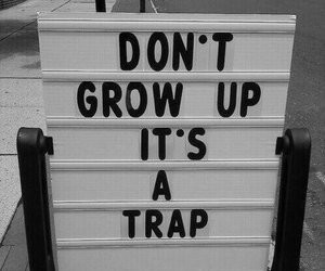 trap, quotes, and grow up image