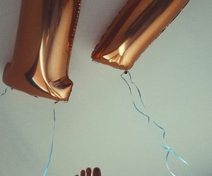balloons, birthday, and feet image