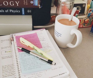study, studying, and coffee image