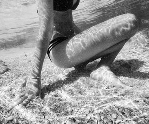 b&w and underwater image