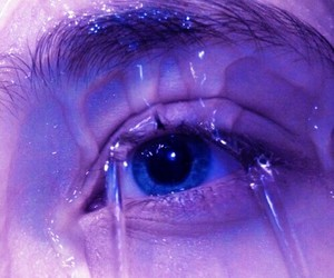 water, blue, and eye image