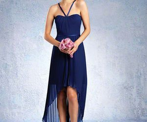 women fashion, royal blue dress, and blue bridesmaid dresses image