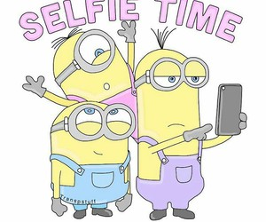minions, selfie, and overlay image