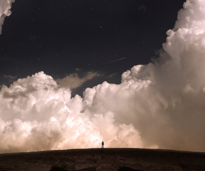 clouds, life, and galaxy image