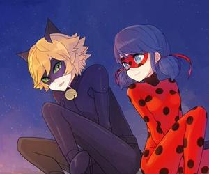 ladybug, miraculous ladybug, and Chat Noir image