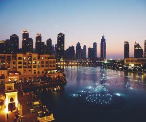 beautiful, Dubai, and fountains image