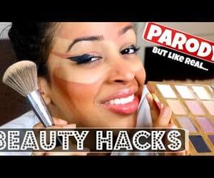 beauty, makeup, and lmao image