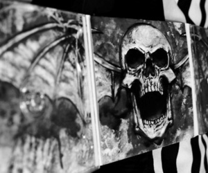 a7x, avenged sevenfold, and skull image