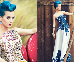 katy perry, blue hair, and dress image