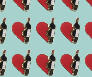 drink, heart, and pattern image