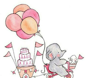 elephant, art, and balloons image