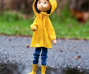 coraline, movie, and rain image