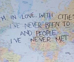 world, city, and quotes image
