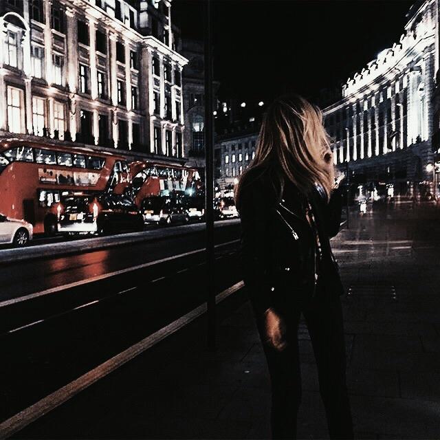 girl, london, and night image