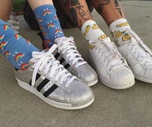 adidas, shoes, and socks image