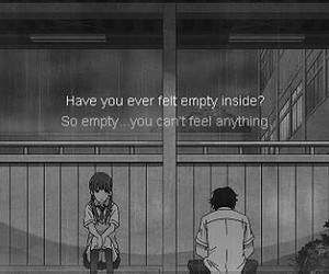 anime, empty, and quote image