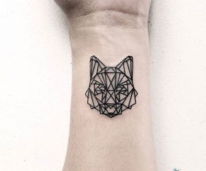 wolf and tattoo image