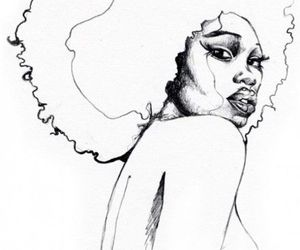 Afro, flaw, and draw image